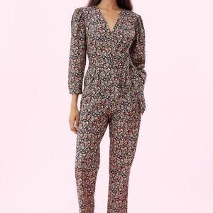 NWT Rebecca Taylor Gitane Floral Wrap Jumpsuit  S